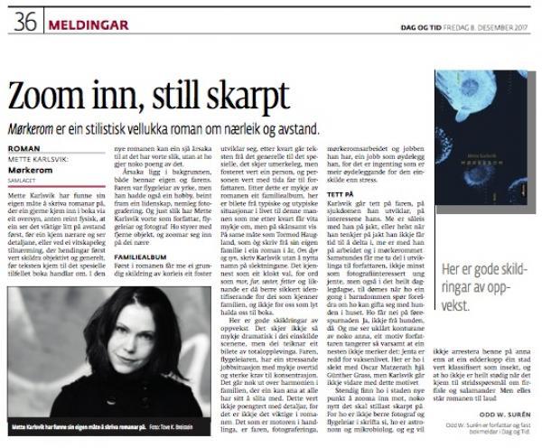 Faksimile Dag og tid, 8/12-2017