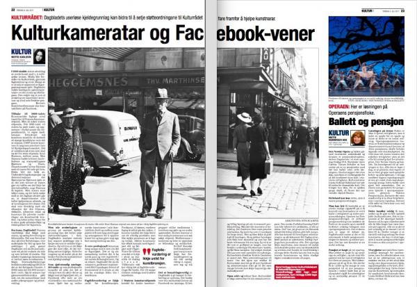 Faksimile frå Dagsavisen 4/7-2017